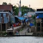 Boat dock in Chau Doc. http://www.chaudoctravel.com/2013/03/see-photos-in-chau-doc-an-giang/