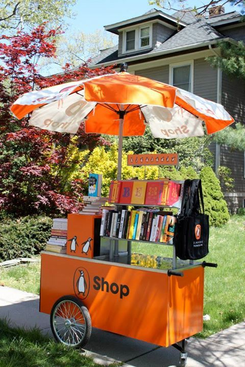 @Penguin Books book cart — inspired by a hot dog vending cart