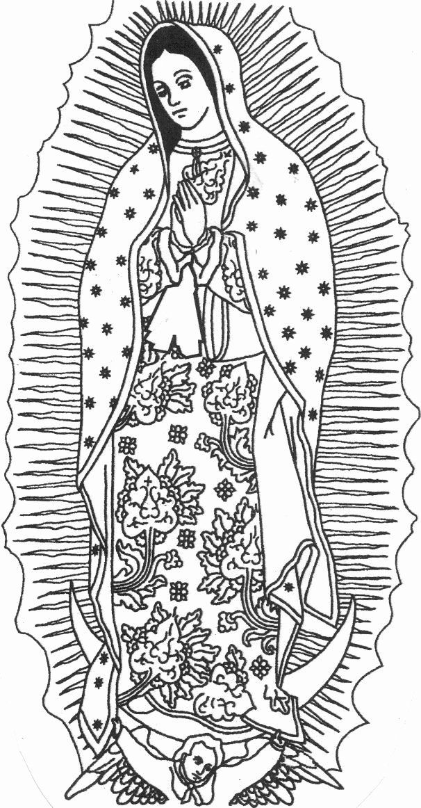 Our Lady Of Guadalupe Coloring Page Best Of 112 Best Images About La Virgen De Guadalupe On Pinterest In 2020 Coloring Pages Folk Embroidery Catholic Coloring