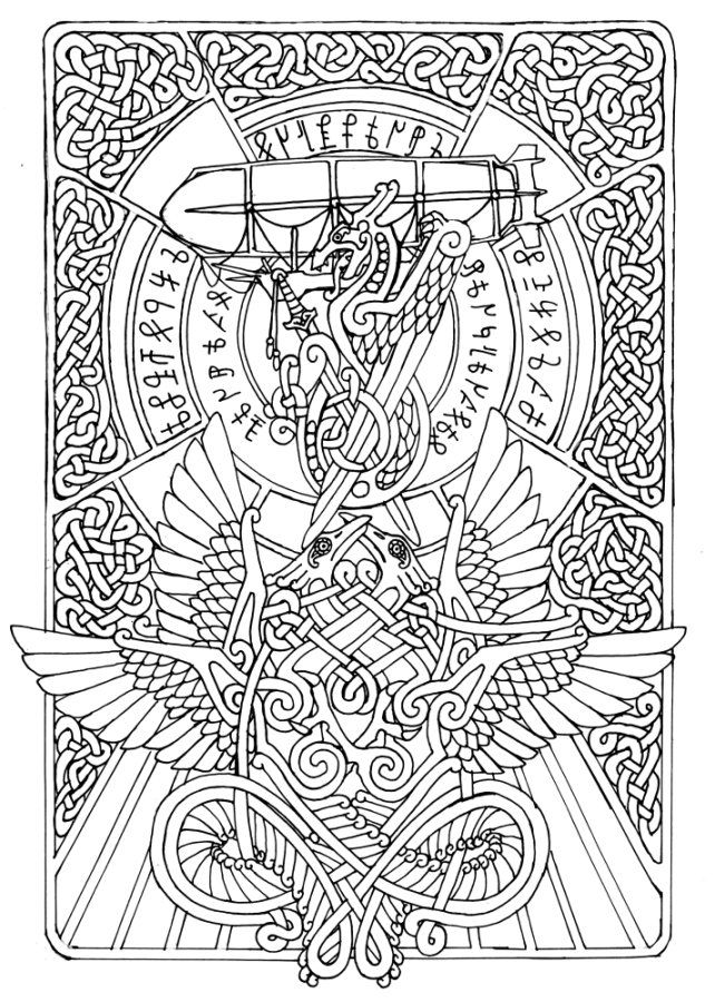 celtic adult coloring pages | 94 best Celtic Coloring Pages for Adults images on ...