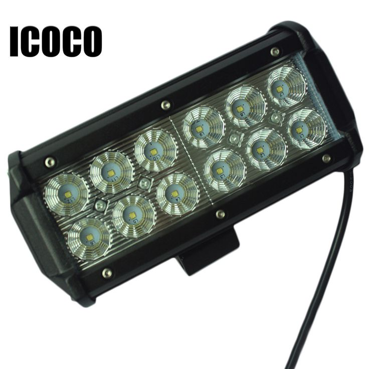 673 best car lights images on pinterest car lights cars and lamps icoco 12v dual rows led light bar 36w 12led flood beam ip67 waterproof work light driving aloadofball Image collections