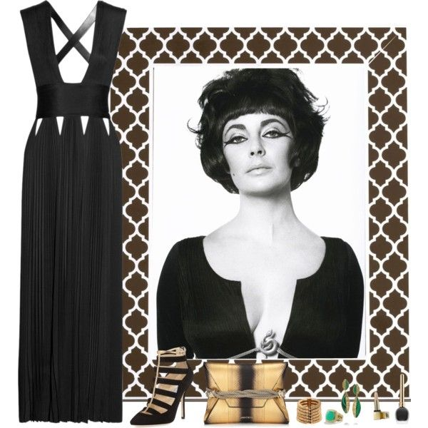 Elizabeth Taylor by guemara on Polyvore featuring Givenchy, Jimmy Choo, Balmain, Fred Leighton, David Yurman, Sunday Riley, Reed & Barton and Elizabeth Taylor
