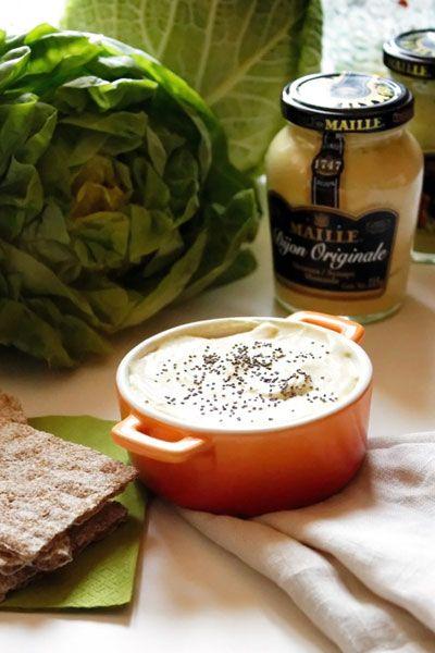 Erbaviola.com - Grazia Cacciola - Formaggio veg alla senape di Digione . - Vegan Cheese with Dijon Mustard - http://www.erbaviola.com/2014/01/17/cene-veloci-e-crema-di-tofu-alla-senape-di-digione.htm
