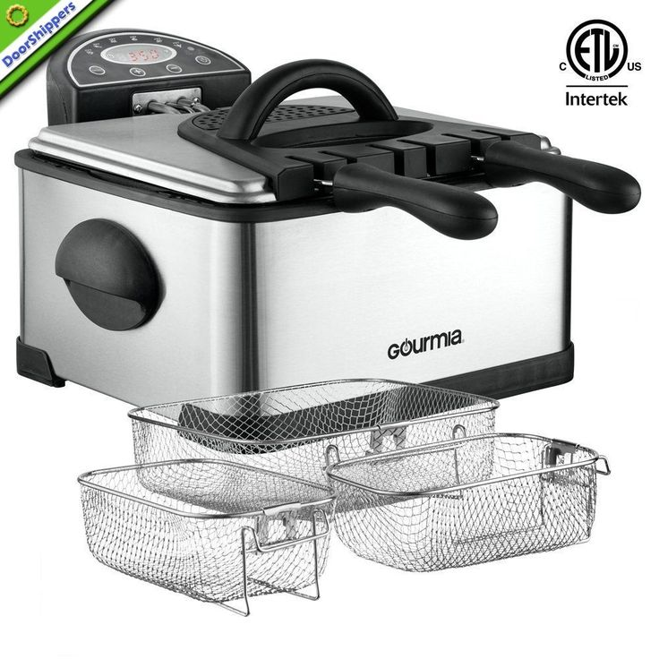 Gourmia GDF500 Compact Electric Deep Fryer, 3 Baskets with Digital Timer... #NA