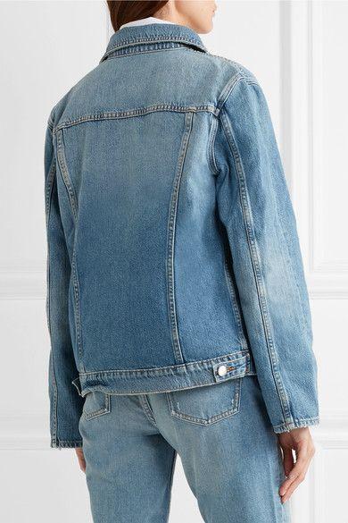 FRAME - Le Jacket Oversized Denim Jacket - Blue - large