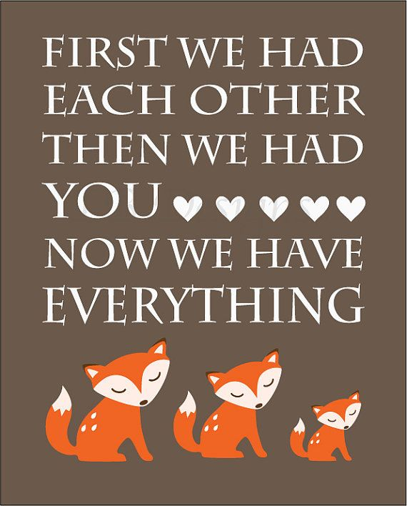 Orange and Brown Fox Nursery Quote Print  8x10 by LJBrodock, $10.00
