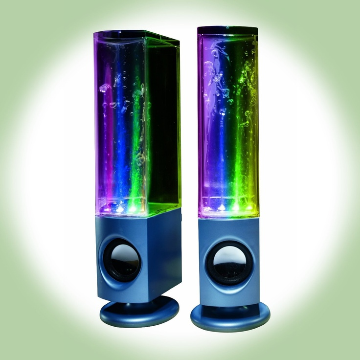 Soundmaster Dancing Water Speakers...I want them!!! But like 10x bigger!!