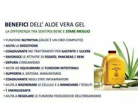 I benefici dell'Aloe Vera Gel. Per maggior informazioni mi potete contattare.