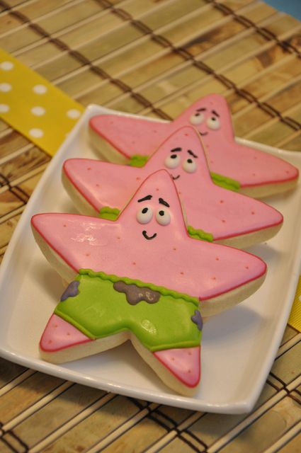 Cookies at a Sponge Bob Party #spongebob #party