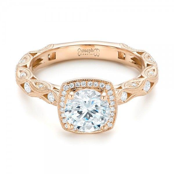 フィリグリー婚約指輪でカスタムダイヤモンド#102786