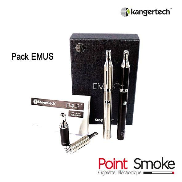 Point Smoke - Pack Emus kangertech - Belle, agréable au touché avec son revêtement satiné, fonctionnelle, légère et fine, cette nouvelle cigarette électronique devrait plaire à beaucoup de monde, aux hommes comme aux femmes.