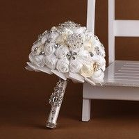 Wish | Artificial Wedding Accessories Bouquets Flowers Buque De Noiva High Quality Made In China Sale Brooch Cheap Crystals Ramos De Novia 2016
