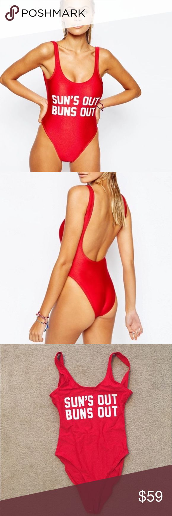 MADISON sun's out bun's out monokini Very vibrant color, swimsuit made of polyester and spandex. As seen on Madison Beer! amandine boutique Swim One Pieces
