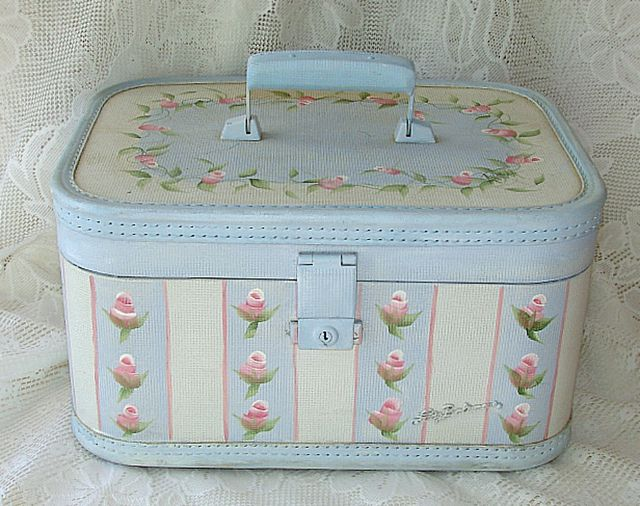 Handpainted Train Case | Flickr - Photo Sharing!