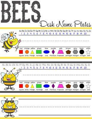 3aa0ba706d60dd857d bee303ae desk name plates miss kindergarten