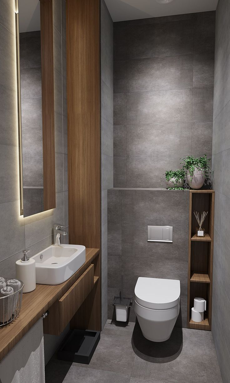 Pin On Home Inspiration In 2020 Small Toilet Design Small Bathroom Makeover Modern Bathroom Design