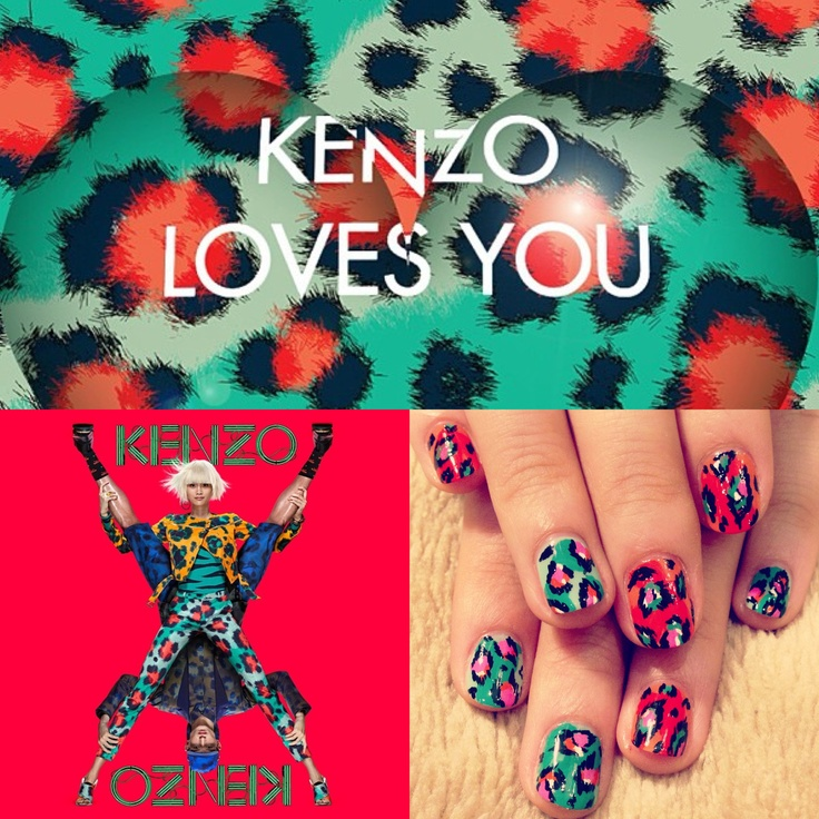 New kenzo leopard nails for spring.
