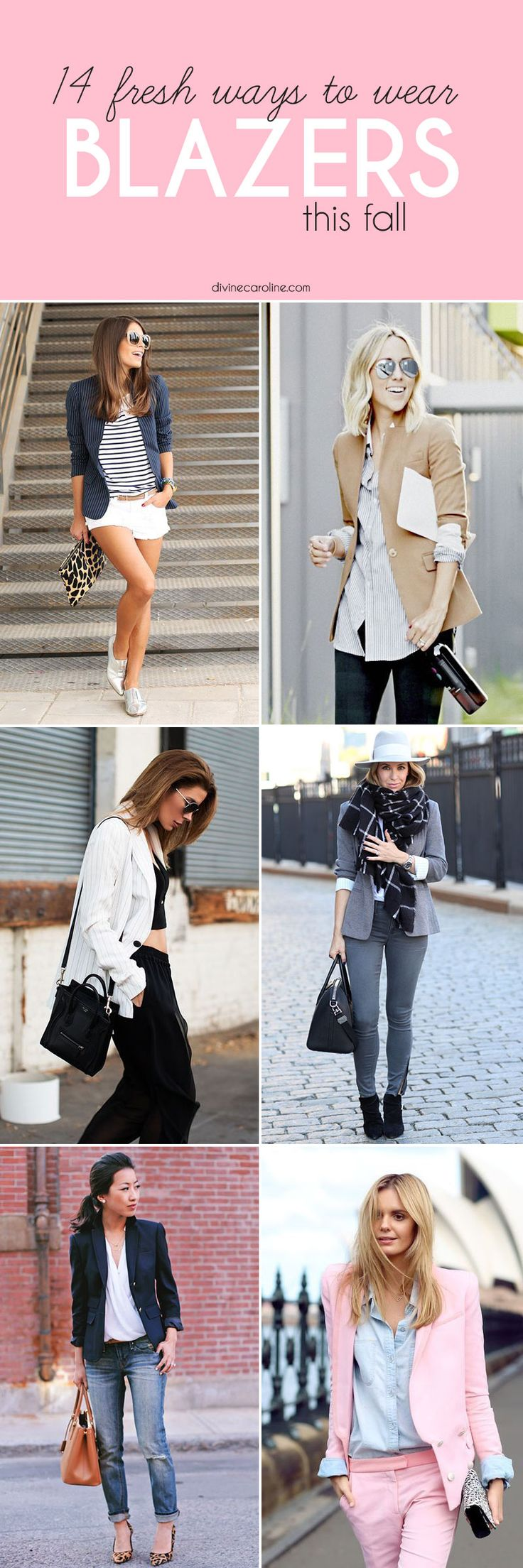 A great blazer is the perfect way to upgrade any outfit. Here's 14 ways to wear one this fall. #blazer #style