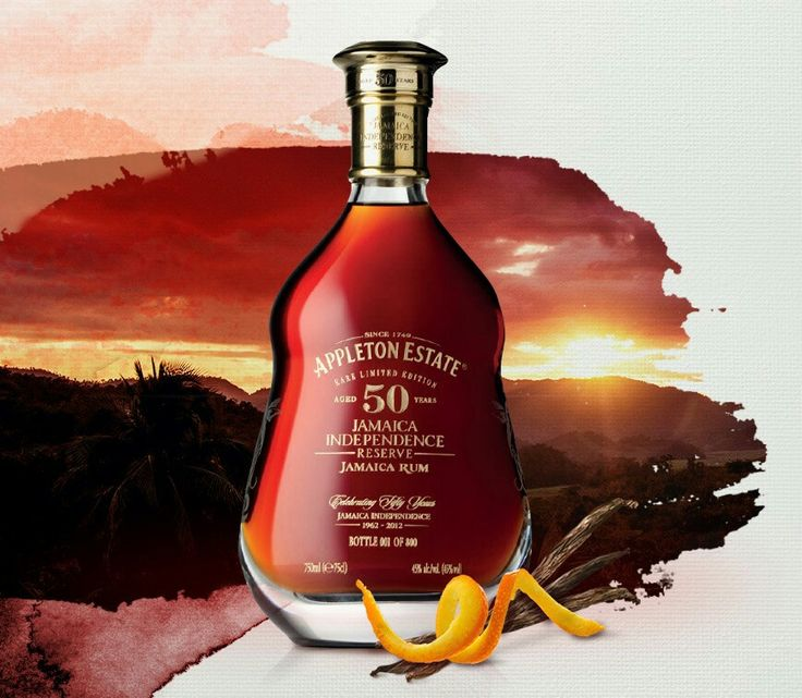 Appleton Estate 50 years Jamaican Independence Limited Edition. Only 800 bottles made!