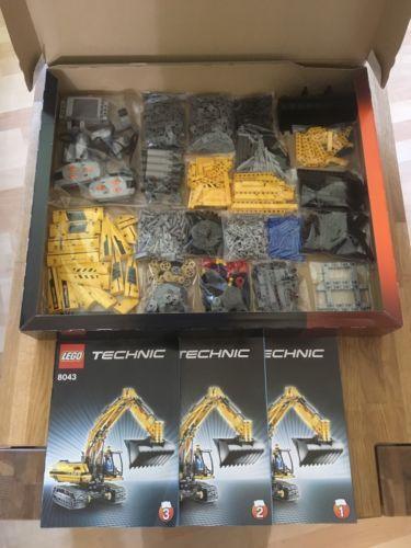 Lego-Technic-Technik-8043-Bagger-100-Komplett