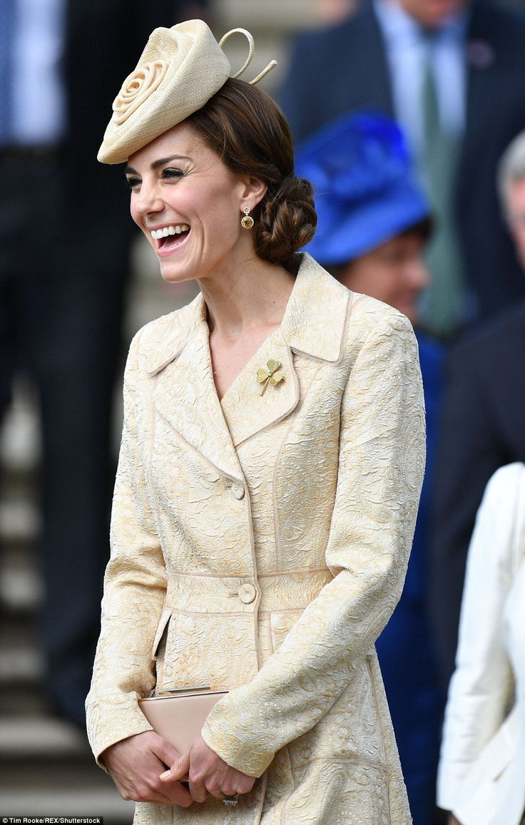 The Duchess of Cambridge attended a royal garden party at the Hillsborough Castle in North...