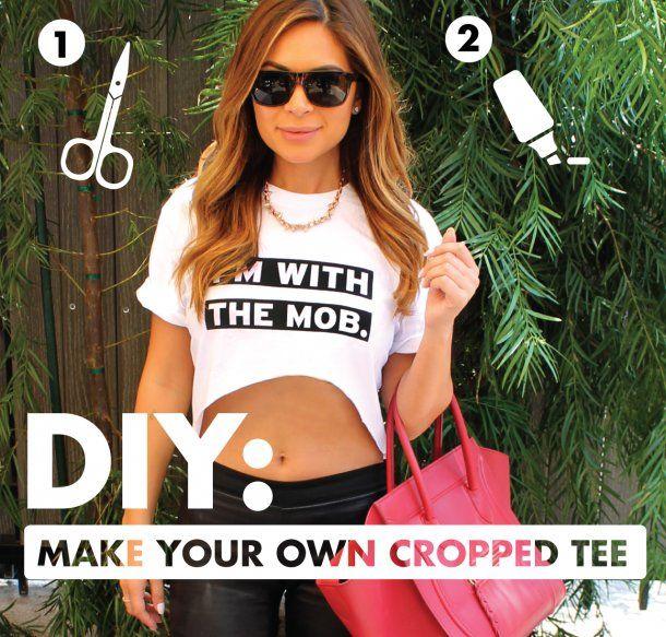 DIY Crop T Shirt
