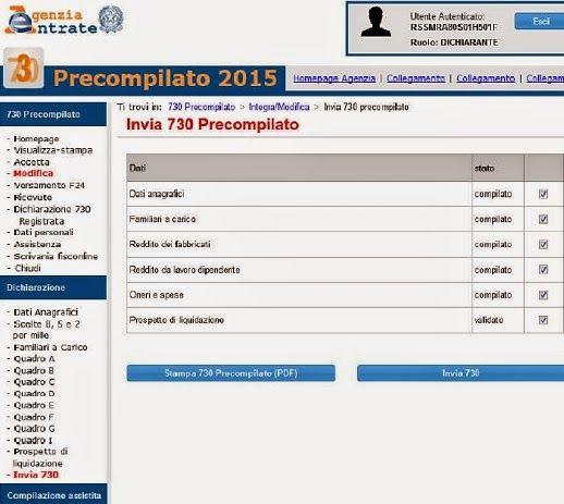 730 precompilato: istruzioni per la compilazione