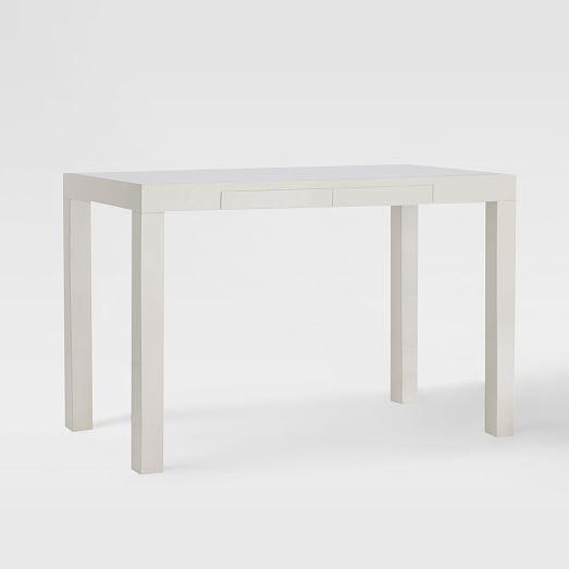 parsons desk white anelya parsons desk white desks desk with rh pinterest com