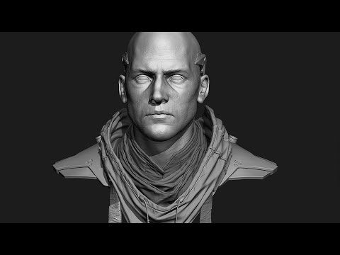 ▶ Bionic Character Bust Timelapse - YouTube