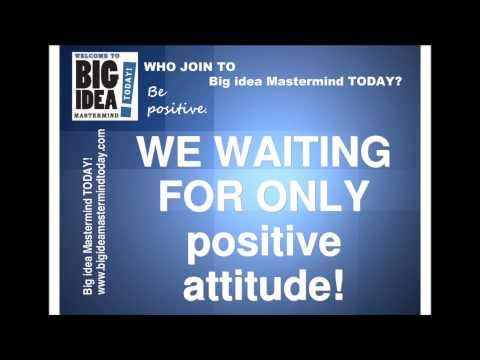 http://www.bigideamastermindtoday.com/  Big Idea MasterMind is an amazing marketing system, which support you to make more money online. No need office, sell store. Only join to Who join to Big Idea MasterMind!    Who join to Big Idea MasterMind? Answers in video!