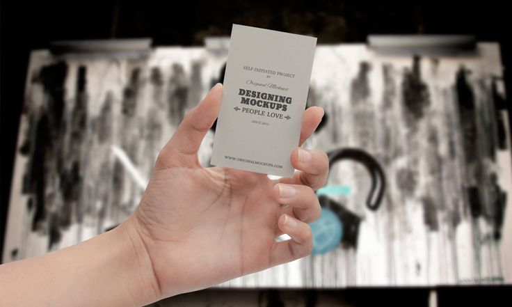 Original Mockups - Business Card Hand Mockup - 2