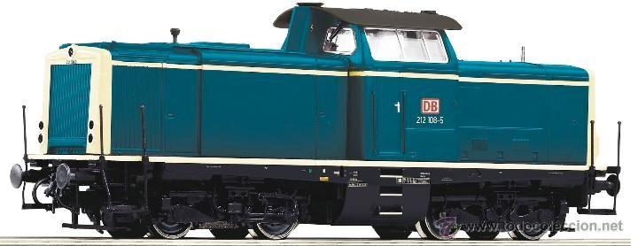 Roco digital Telex 68993 para Marklin AC tres carriles locomotora diesel hidraulica BR 212 DB Nueva - Foto 1