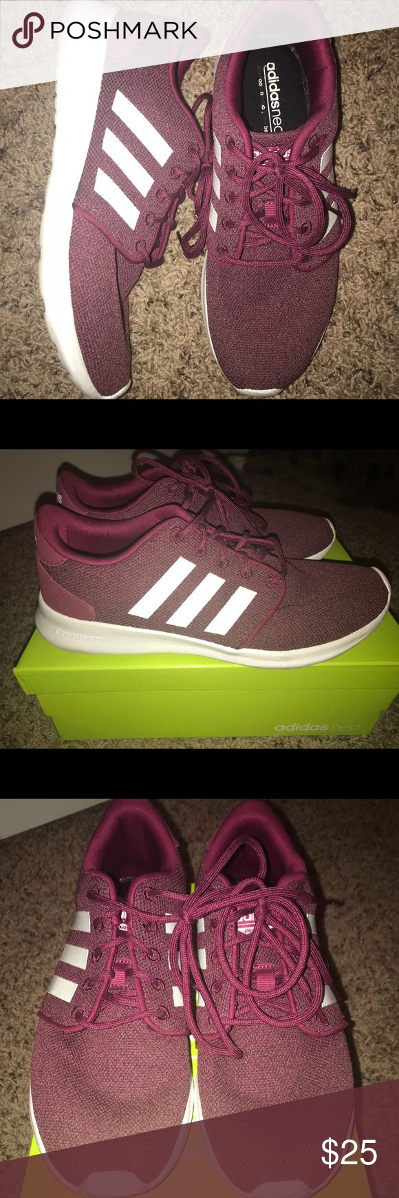 Adidas Cloudfoam QT Racers Women's size 7, maroon Adidas Cloudfoam sneakers.  Gently used, super comfortable! Smoke free home. adidas Shoes Athletic Shoes