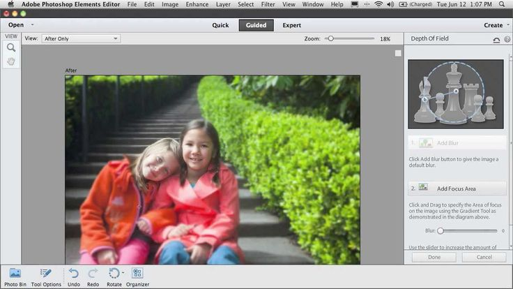 Guided Edits in Photoshop Elements 12