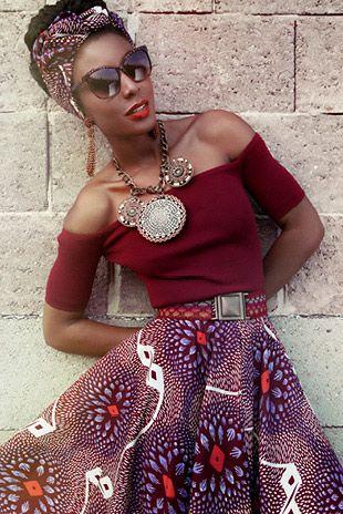 Lena Hoschek, Lilac Dahlia Zambia Skirt, African fashion