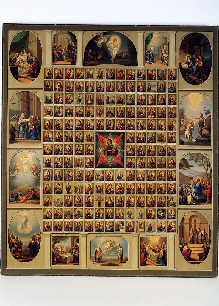 Собор 161 иконы Богоматери, П.Медианов, 1848 1849гг., дерево, левкас, темпера #rkpm