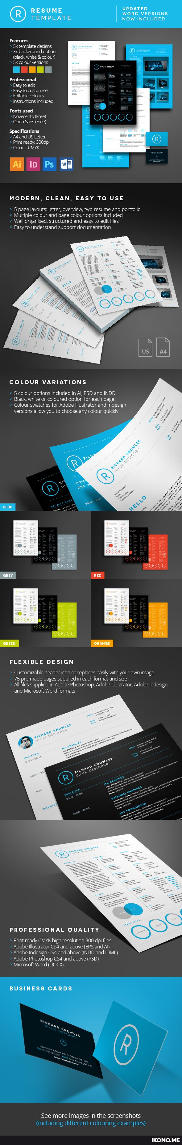 1000 images about resume templates creative resume resume is clean multi page resume template designed to be modern professional and confident