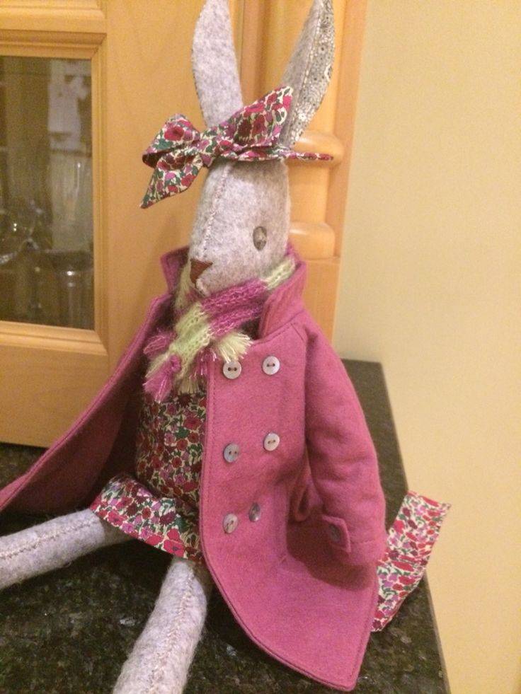 Luna Lapin  All dressed up  In her winter gear!