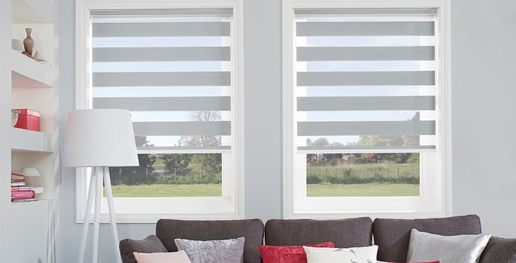 Louvolite Vision blinds – 'Verona', Platinum – by Blinds Online Ltd – blindsonline.net.nz