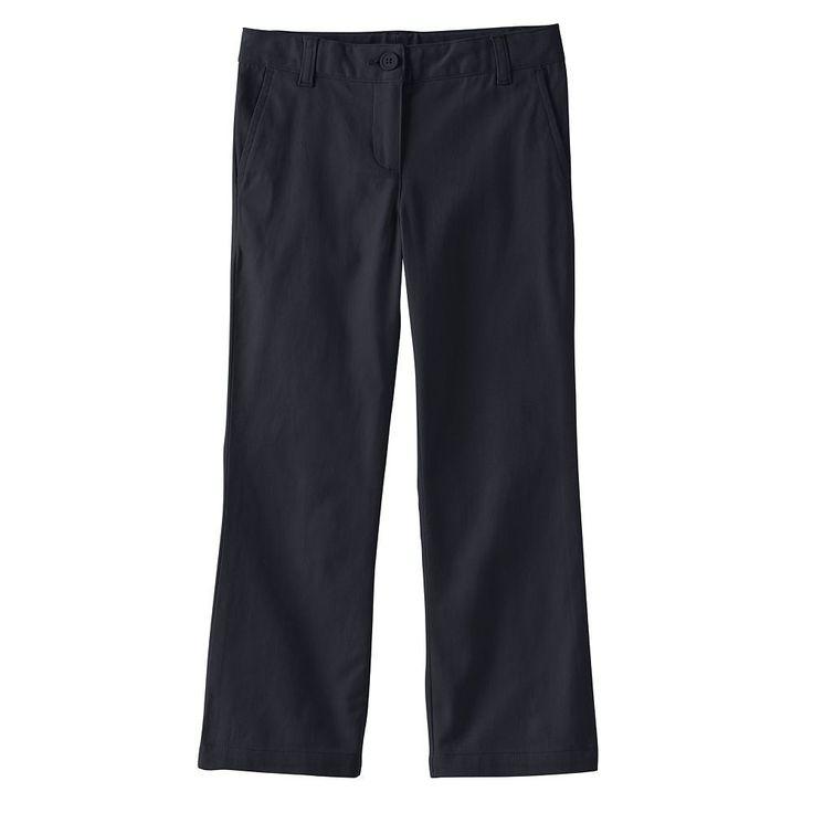 Girls 4-16 & Plus Size Chaps Twill Bootcut Pants, Size: 10 1/2, Blue (Navy)