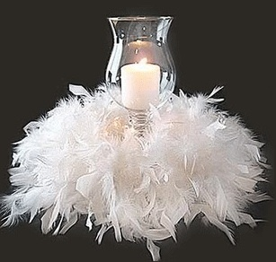 feathers & candlelight. - maybe for a table setting with some colorful flowers and foses
