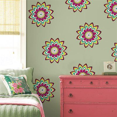 Brewster Home Fashions WP0003 WallPops 3 Zsa Zsa Dots Wall Decals #home decor sale & deals WallPops 3 Zsa Zsa Dots Wall DecalsAn explosion of pink brown teal and limon flowers with pink green and diamond gem embellishments, Zsa Zsa works gre...