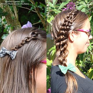 Miriam's Vlecht Lessen (Miriam's braiding instructions): Geknoopte kapsels // Knotted hairstyles