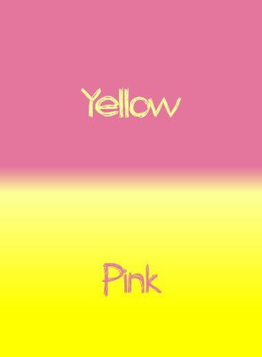 yellow pink