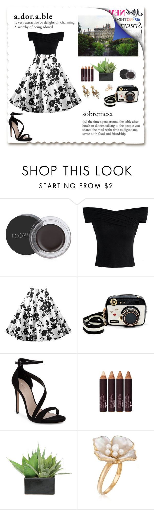 """Classy Girl"" by gina-is-in-style ❤ liked on Polyvore featuring Chicwish, Betsey Johnson, Carvela, mark., Lux-Art Silks and Ross-Simons"