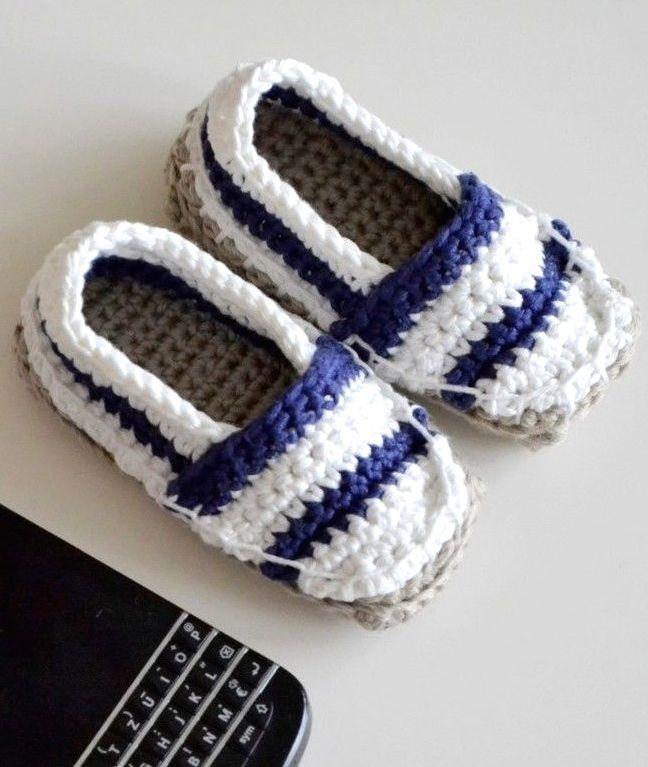 Espadrilles für Babys im nautischen Stil - Häkelanleitung via Makerist.de