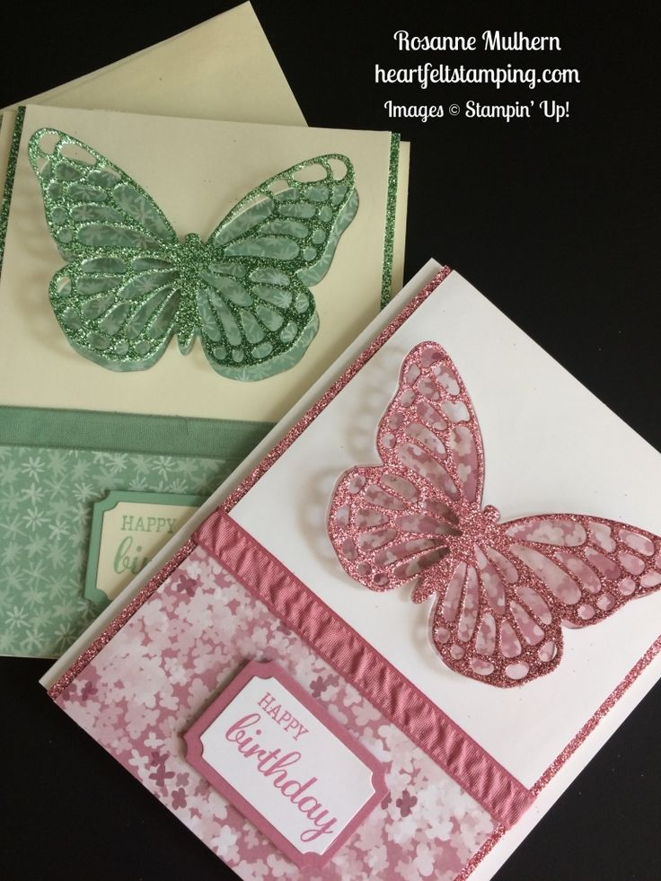 Stampin Up Butterfly Birthday cards idea - Rosanne Mulhern stampinup