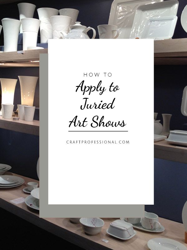 All kinds of information to make your juried art show application the absolute best it can be and help you get accepted into your most wanted shows.