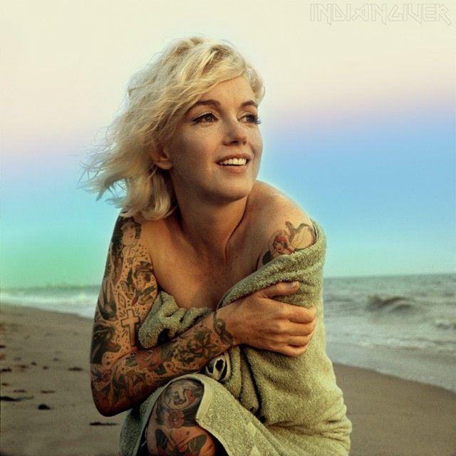 The Best Photoshop Tattoo Ideas On Pinterest - Artist reimagines celebrities covered in tattoos
