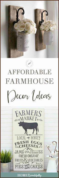 Diese erschwinglichen DIY-Bauernhaus-Ideen eignen …